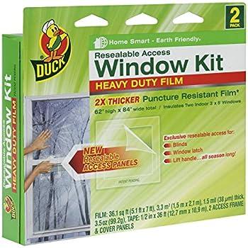 Duck Brand 284353 Heavy-Duty Shrink Film Indoor Window Insulation Kit, 62-Inch x 84-Inch