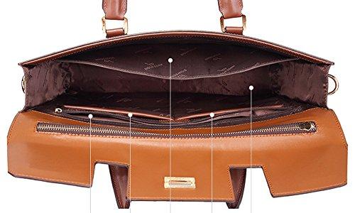 BINSON DENIM Herren Leder Aktentasche Herren Handtaschen Herren Umhängetasche Herren Laptop Tasche Hohe Qualität N2361