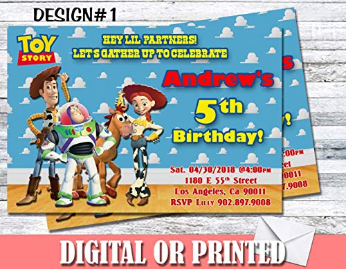 Toy Story Personalized Birthday Invitations More Designs