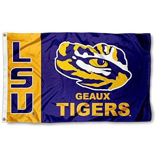 LSU Tiger Geaux University Large College Flag