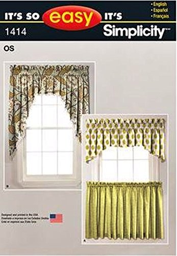 Simplicity It's So Easy Pattern 1414 Valances and Cafe Curtains