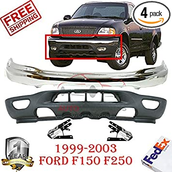 Front Bumper For 1999-2003 Ford F-150 1999-2002 Expedition Chrome Steel