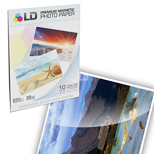 LD Glossy Inkjet Magnetic Photo Paper 4x6 (10 Sheets)