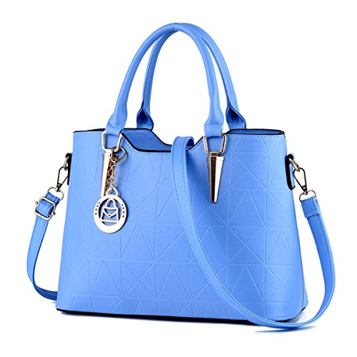 Ruiren Multifunction Portable Soft Bag Women Shoulder Bag Light Blue