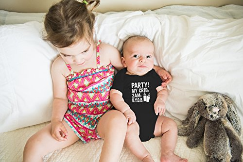 AW Fashions Crib, 2 AM, Cute Funny Infant One-Piece
