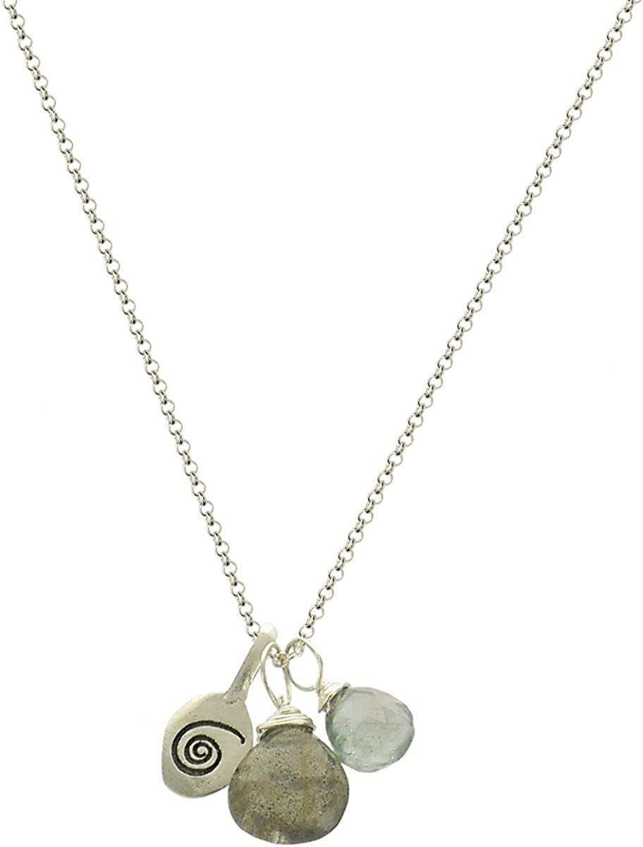 925 Sterling Silver Claddagh Pendant w//Trinity Knot Rhodium Plated 28 mm