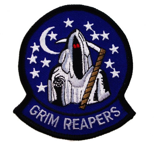 (Grim Reaper US Navy F14 Fleet Replacement Fighter Squadron VF 101 Embroidered Patch)