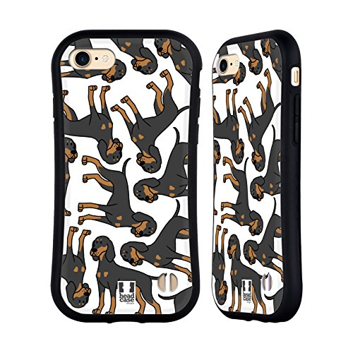 Head Case Designs Black and Tan Coonhound Dog Breed Patterns 14 Hybrid Case for iPhone 7 / iPhone 8 - Dog Breed Coonhound