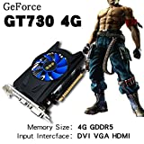 Qewmsg 4GB GDDR5 128Bit PCI-E Game Video Card Graphics Card for GT730 With Cooler Fan