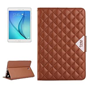 Diamond Pattern Flip Leather Case with Card Slots & Holder for Samsung Galaxy Tab A 8.0 / T350 (Brown)