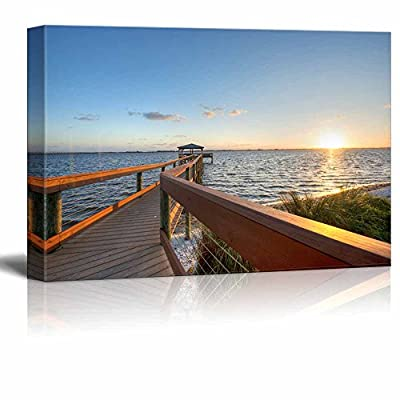Canvas Prints Wall Art - Beautiful Scenery/Landscape of The Canaveral National Seashore | Modern Home Deoration/Wall Art Giclee Printing Wrapped Canvas Art Ready to Hang - 32