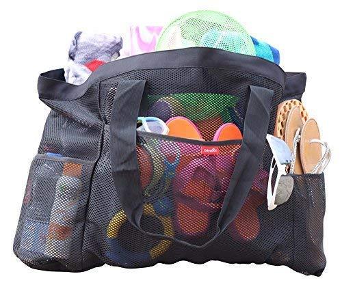 Odyseaco - Oahu XXL Mesh Beach Tote Bag - Extra Heavy Duty with Zipper 061c43d1c7b17