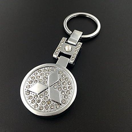 Amazon Champled Mitsubishi Rhinestones Emblem Keychain Keyring