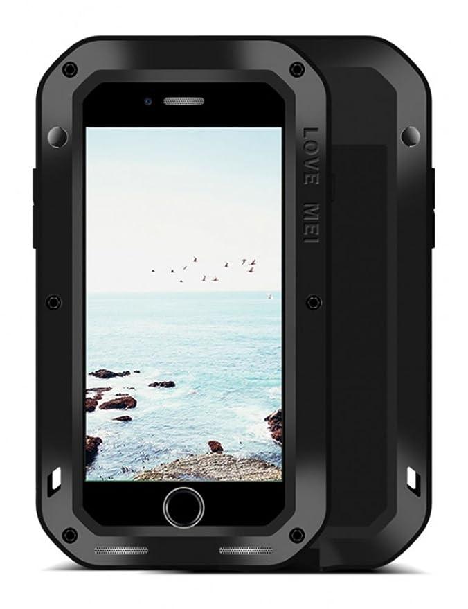 1 opinioni per LOVE MEI Cover iPhone 8 Plus, Potente Robusto Ibrido Alluminio Metallo Armatura