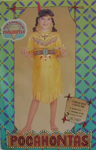 Rubie's Girls 'Pocahontas' Halloween Costume, Yellow, L ()