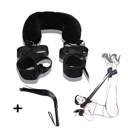 RianGor Juego de ropa de cama con puños ajustables para muñeca y tobillo de nailon para