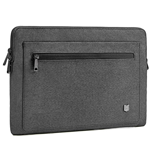 Evecase 13-13.3 inch City Laptop Sleeve Water Resistant Durable Professional Business Neoprene Bag for MacBook Pro, MacBook Air, 12.9 iPad Pro Tablet, Ultrabook Chromebook and More - Coal Gray