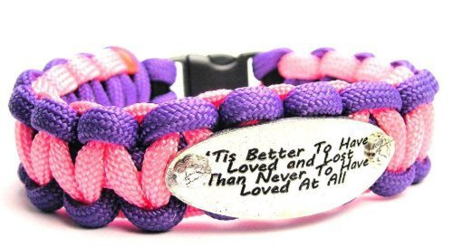 Tis' Better to Have Loved and Lost ChubbyChicoCharms 550 Paracord Charm Bracelet (Better To Have Loved And Lost Shakespeare)