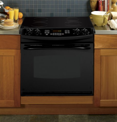 GE PD900DPBB 30' Black Electric Drop-In Smoothtop Range