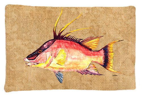 Caroline Bedding (Caroline's Treasures 8803PILLOWCASE Hog Snapper Moisture Wicking Fabric Standard Pillowcase, Large, Multicolor)