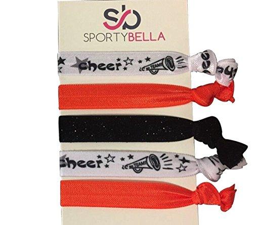 Infinity Collection Cheer Hair Ties- Girls Cheer Hair Accessories- Cheerleading Elastics for Cheerleaders