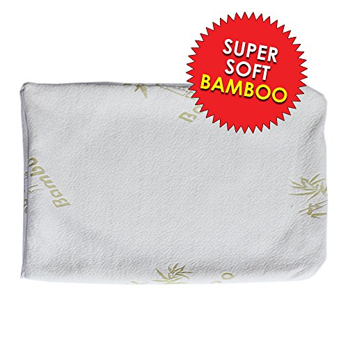 Bamboo PILLOW CASE Premium Hypoallergenic Bed Bug and Dust Mite Proof Zippered Pillow Protector SOLD 1 Per Package by Bamboo Grand (KING) - Allergen Proof Comforter Cover