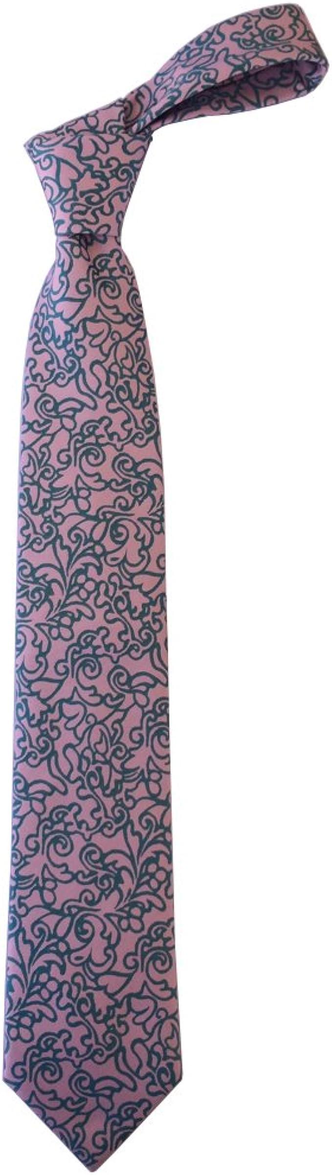 Corbata seda hombre estampado silueta paisley: Amazon.es: Ropa y ...