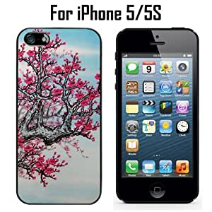 japanese cherry blossom Custom Case/ Cover/Skin *NEW* Case for Apple iPhone 5/5S - Black - Rubber Case (Ships from CA) Custom Protective Case , Design Case-ATT Verizon T-mobile Sprint ,Friendly Packaging - Slim Case