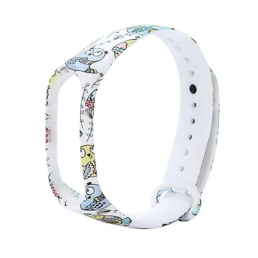 Xiaomi Band 3 Pulsera, Correa de Reloj Inteligente, TPE Banda Pulsera Correa, Replacement Wristband Wrist Strap, Sencillo Vida, Estampado de Flores: ...