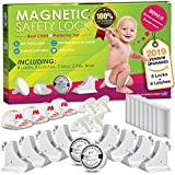 Invisible Magnetic No Drill Safety Lock: Keep Your Baby Safe! Secure Kitchen & Bedroom Cabinets & cupboards with 8 Child Proof Door & Drawer Locks for Kids & Toddlers. 2 Keys & 3M Adhesive Straps