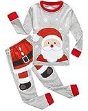 Dolphin&Fish Boys Christmas Pajamas Kids Pjs Sets Cotton Toddler Clothes Children Sleepwear,Santa, Size 8