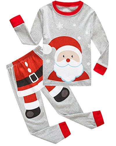 Dolphin&Fish Boys Christmas Pajamas Kids Pjs Sets Cotton Toddler Clothes Children Sleepwear Size 5 Gray