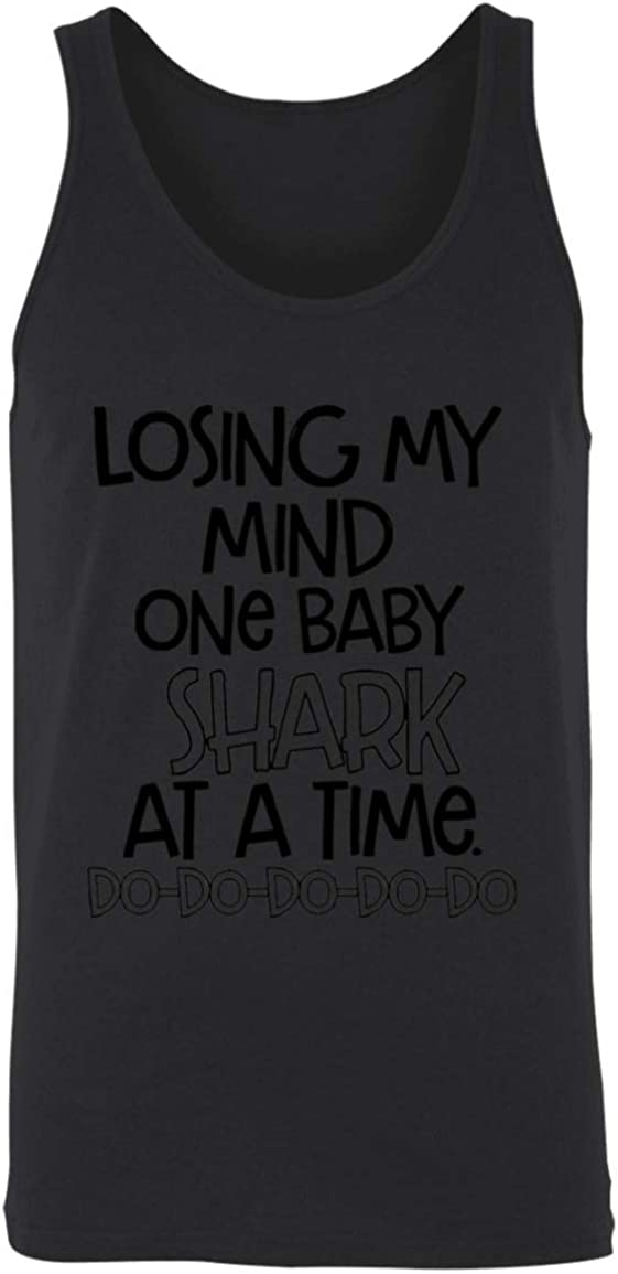 Family Mom Shark Unisex Tank Losing My Mind One Baby Shark at A Time Doo Doo