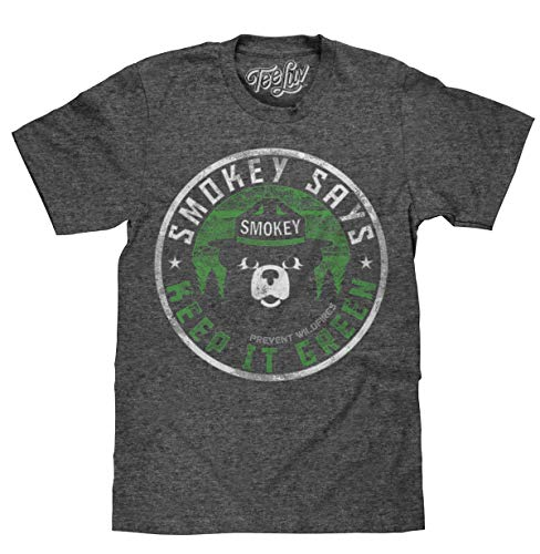 (Tee Luv Smokey Bear Keep It Green T-Shirt - Smokey Bear Graphic Shirt (Large))