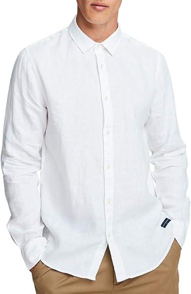 Scotch & Soda, Camisa de Lino Clasica, Blanca, S&S_155139 ...