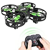 Cheap Dwi Dowellin Mini Drone Crash Proof RC Quadcopter One Key Take Off Nano Drones Toy for Kids Beginners Boys and Girls, Green