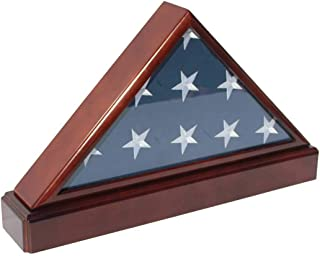 product image for Burial/Funeral Flag Display Case Frame Military Shadow Box with Pedestal Stand