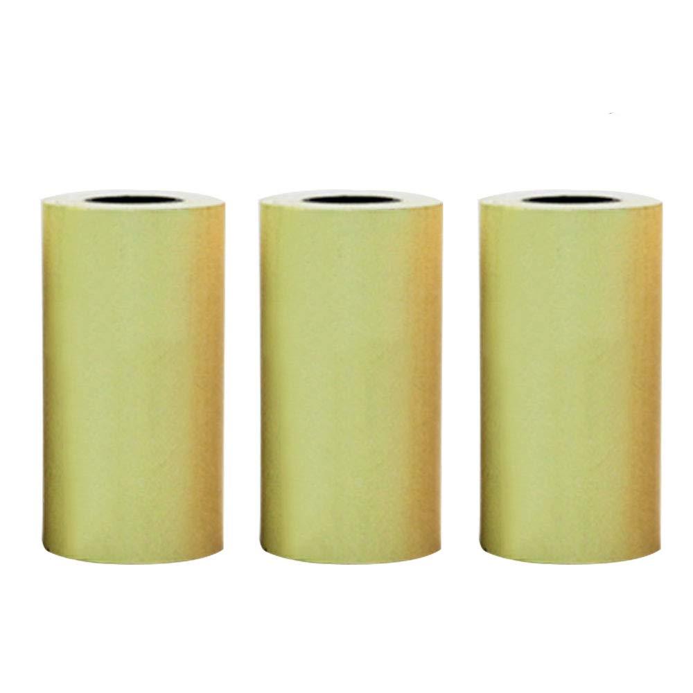 Teepao Rotoli di carta termica per ricevute da 3 rotoli 5, 7 * 3 cm per rotoli di carta termica per etichette di etichette di carta con etichette 57mm