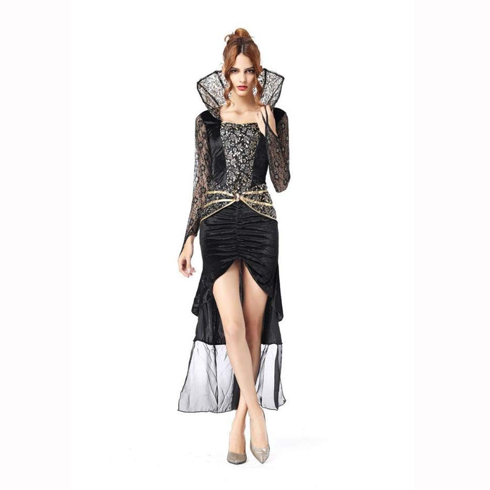 Ambiguity Halloween-Hexe Cosplay Vampir Hexe Königin Kostüm