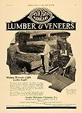1920 Ad Astoria Mahogany Co. Lumber & Veneers Log - Original Print Ad