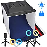 Photo Light Box, TRAVOR Display Box 16''/40cm Foldable & Portable Studio Photography Photo Box Kit for Large Studio and Product Display, Great Photography Accessory for Jewelry, Goods, Foods (1800LM)