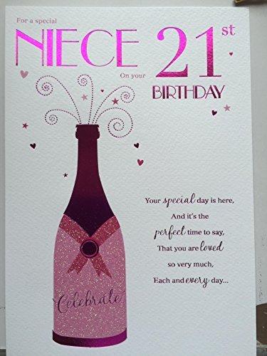 Amazon Special Niece 21st Birthday Birthday Card By Icg Cards