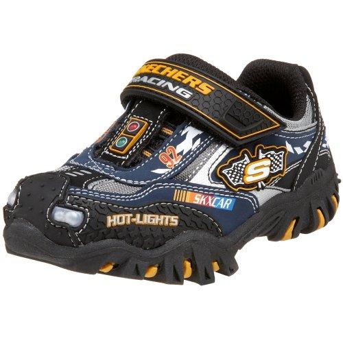 Skechers Little Kid/Big Kid Hot Lights - Damager - Race Car Sneaker