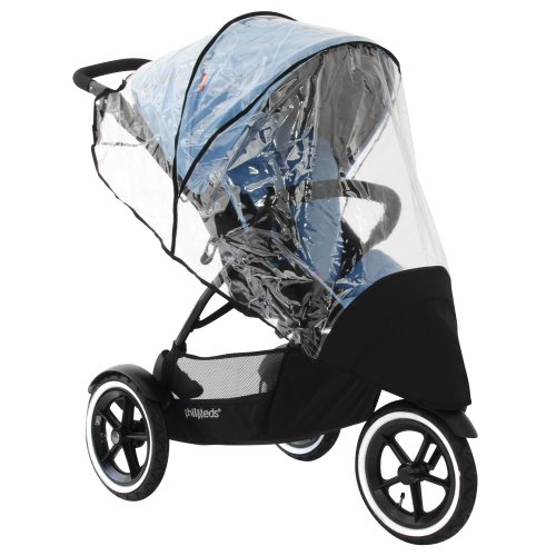 (phil&teds Stormy Weather Cover for Single Navigator Stroller, Clear)