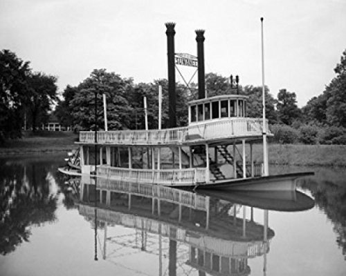 Reflection of a paddleboat in a river Suwanee Riverboat Greenfield Village Dearborn Michigan USA Poster Print (24 x 36) by Posterazzi