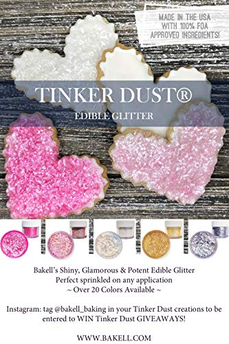Rose Gold Tinker Dust Edible Glitter 5g Jar | Bakell Food Grade Gourmet  Dessert, Foods, Drink Garnish Pearlized Shimmer Sparkle Sprinkle