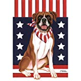 Best of Breed Boxer Patriotic Breed Garden Flag