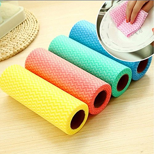 Pan Essentials Fry Basic (TianBaBa Non-woven Fabric Home Essential Kitchen Cleaning Cloth Dish Bowl Towels)
