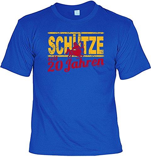 T-Shirt - Sternzeichen-Shirt Schütze seit 20 Jahren - das besondere Shirt mit lustigem Print als ideales Geburtstagsgeschenk für junge Leute mit Humor