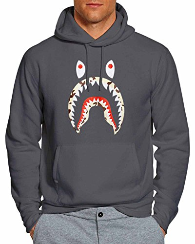 A Bathing Ape x Shark Hoodie Charcoal 3XL WB for sale  Delivered anywhere in USA